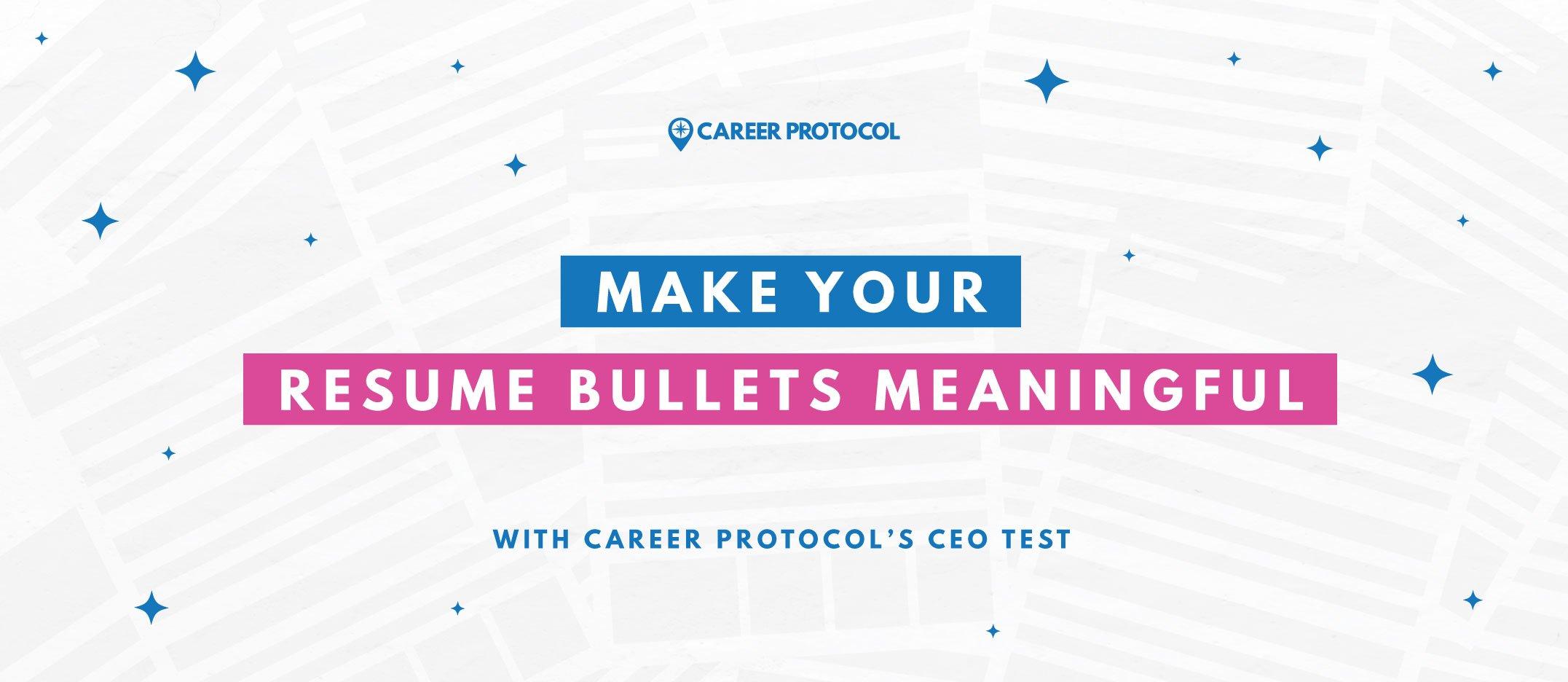 Resume bullets